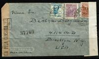 Brazil WWII, Double Censored Airmail Cover - Lot 090617