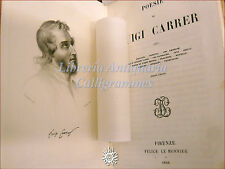 POESIA - Luigi Carrer, POESIE 1856 Le Monnier Ateneo Veneto giornalismo Venezia
