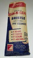 Vintage Bryco Ream-N-Klean Bristle Tabacco Pipe Cleaners 24 Count Package Unused