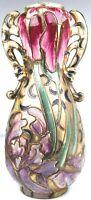 Vintage Ornate Japanese Art Nouveau Vase With Multi-Color Moriage Decoration