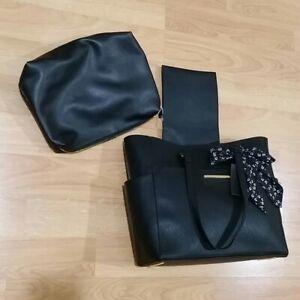 NEW Steve Madden Brumi Tote Bag Shopper Black Handbag NWT $108