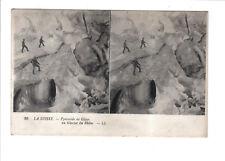 Vintage LL Stereoview  Postcard.Switzerland-Pyramid of Ice,Rhône Glacier