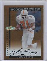 2000 Score Rookie Preview Autographs Jamal Lewis RC