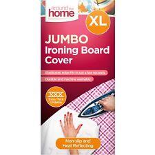 Elasticated 132cm x 44cm Large Jumbo Size Ironing Board Cover Heat Reflective
