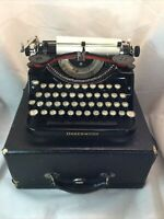 Vintage 1930's Underwood Universal Portable Typewriter With Case