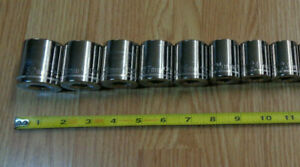 """Made in USA - CRAFTSMAN  1/2"""" Drive LARGE METRIC SOCKET SET 23mm-> 32mm  8pc NEW"""