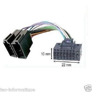 Kabel Iso für Autoradio JVC KD-R601 KD-R611 KD-R612 KD-R621 KD-R631 KD-R641
