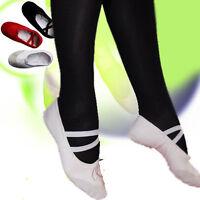 Ballettschuhe WEIß Ballettschläppchen Tanzschuche NEU