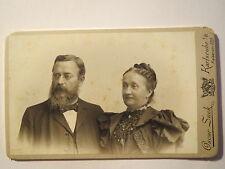 Karlsruhe i. B. - altes Paar - Mann und Frau - Portrait / CDV