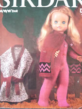 """VINTAGE SIRDAR KNITTING PATTERN 14"""" TO 18"""" DOLLS CLOTHES / OUTFITS"""