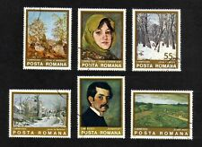 Romania 1975 Paintings by Ion Andreescu full  set of 6v. (SG 4124-4129) used
