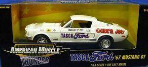 Ertl 32648 Ford 1967 Mustang GT TASCA - White 1/18 Die-cast MIB