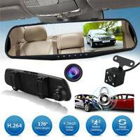 4.3'' LCD Car Camera Mirror DVR HD Vehicle Camcorder Dash Cams Parking Monitor