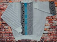 Vintage 80s/90s Cosby 3D Patterned Sweater Jumper Pullover  Size Large