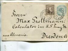 Argentina 12c uprated stationery cover to Germany 1891