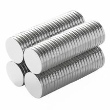 1/2 x 1/16 inch Strong Craft Neodymium Rare Earth Disc Magnets N48 (100 Pack)