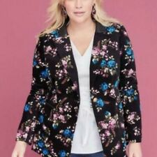 433f056ae97c Бархатный пиджак с цветочным рисунком, пальто и куртки для женский ...