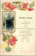 RED STAR LINE: menu card D-2, ss vaderland 1902, Art nouveau design