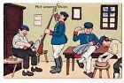KASERNE um 1910: AUF UNSERER STUBE, farbige humorvolle Stubenszene, ZEICHNUNGFotos, Briefe & Postkarten - 34648