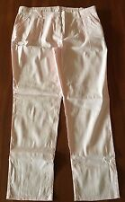 WITCHERY Pale Pink Linen Stretch Blend Elastic Back Slim Leg Regular Fit Pant 16