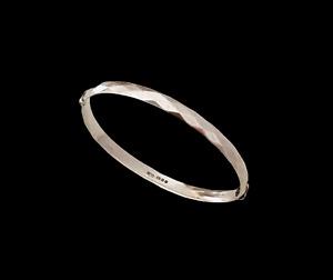 "Vintage Georg Jensen 60s Hallmark Sterling Silver 7"" Bangle Bracelet GJLd"