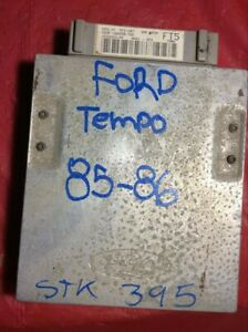 1985 - 1986 FORD TEMPO TOPAZ ENGINE COMPUTER  E63F-12A650-T2G ECU CFI-SD7 FT5