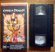 ENTER THE DRAGON Bruce Lee PAL VHS Video W/Screen 25th Anniversary