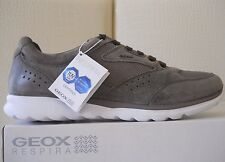 Geox scarpe estive uomo U Damian A Grey sneakers Pelle Nubuck/Mesh n43 €100