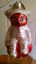 "Chrstopher Radko ""Bear Wrap"" Bear sitting on a Glittery Pumpkin 1999 Medallion"