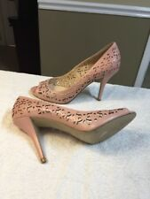 ENZO ANGIOLINI Women sz 10 Cut Out Heels Pink Leather Open Toe