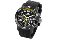 TW Steel TW74 Men's Grandeur Diver Chronograph 45mm All Black PVD Rubber Watch