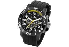 TW Steel TW74 Men's Grandeur Diver Chronograph 45mm All Black PVD Rubber Watch