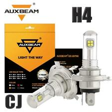 AUXBEAM H4 9003 HB2 HS1 20W COB LED Fog Light or Super Bright HI-Low Bulbs 6000K