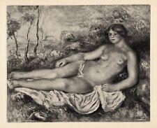 """LOOK 1919 RENOIR Limited Edition Engraving """"Femme nue Étendue"""" SIGNED FRAMED COA"""
