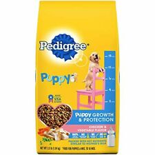 Pedigree Puppy Growth & Protection Dry Dog Food Chicken & Vegetable Flavor,3.5Lb