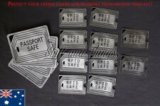 RFID BLOCKING SLEEVES - 4 x Passport, 10 x Credit Card/License SCAN SAFE SECURE