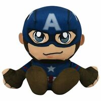 "Marvel Captain America 8"" Kuricha Sitting Plush- Soft Chibi Inspired Toy"