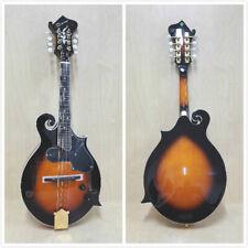 Caraya 008EQVS F-Style Solid Top Electric-Mandolin,Vintage Sunburst+Free Gig Bag