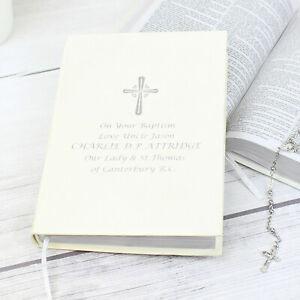 PERSONALISED Holy Bible. Christening Baptism Confirmation Holy Communion Wedding