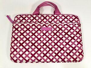 VERA BRADLEY Pink Basket Weave Pattern Computer Bag