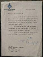 1964 23) LETTERA AUTOGRAFATA FALCONE LUCIFERO MINISTRO DI UMBERTO II RE D'ITALIA