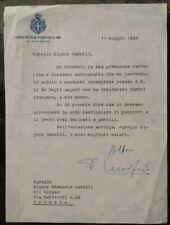 1964 LETTERA AUTOGRAFATA FALCONE LUCIFERO