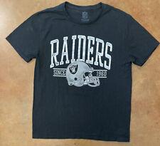 NFL Team Apparel Mens T-Shirt Raiders Football AFC Black Sz M, Pre Owned, Rare