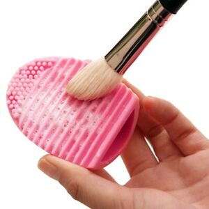 SILICONE MAKE UP BRUSH CLEANER Makeup Bristle Foundation Cleaning Scrubber Tool