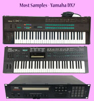 Most SAMPLES: Yamaha DX7