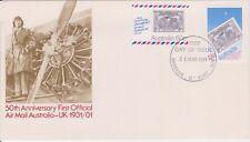 (K59-14) 1981 AU FDC 88c 50th anniversary of airmail AU to UK (N)