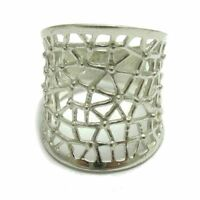 Stylish sterling silver wide ring solid 925 R000675 Empress