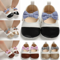 Baby Girls Toddler Sandals Soft Sole Bowknot Shoes Anti Slip Crib Prewalker PU