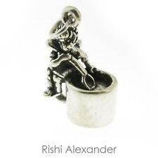 925 Sterling Silver Coffee Cup Fairy Charm American Made