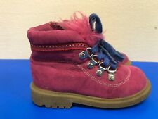 Stuart Weitzman baby girl pink lace up/zipper suede Boots Size 7